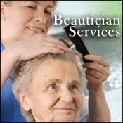 Assisted living beautician services