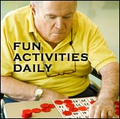 Enjoy delicious games like bingo and trivia at Waterford South assisted living center