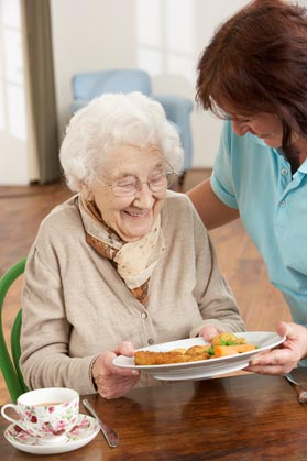 Our chefs prepare delicious food with homecooked flair at Waterford South Assisted Living.
